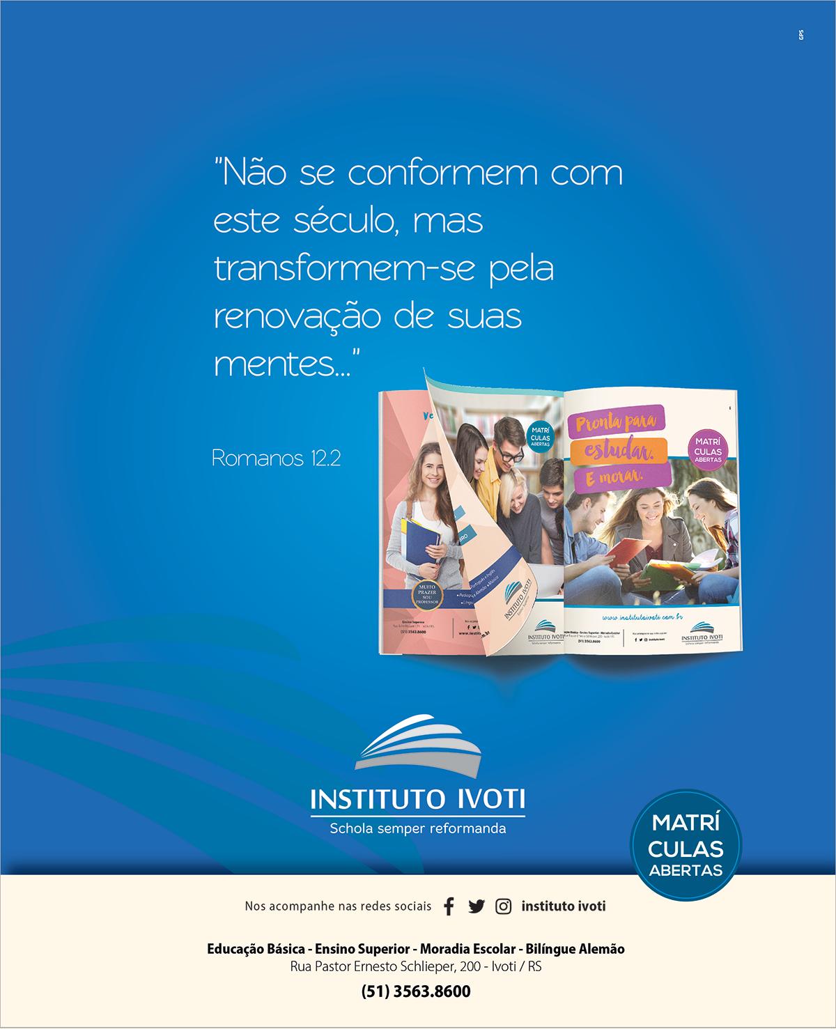 Anúncio Reforma Luterana Instituto Ivoti