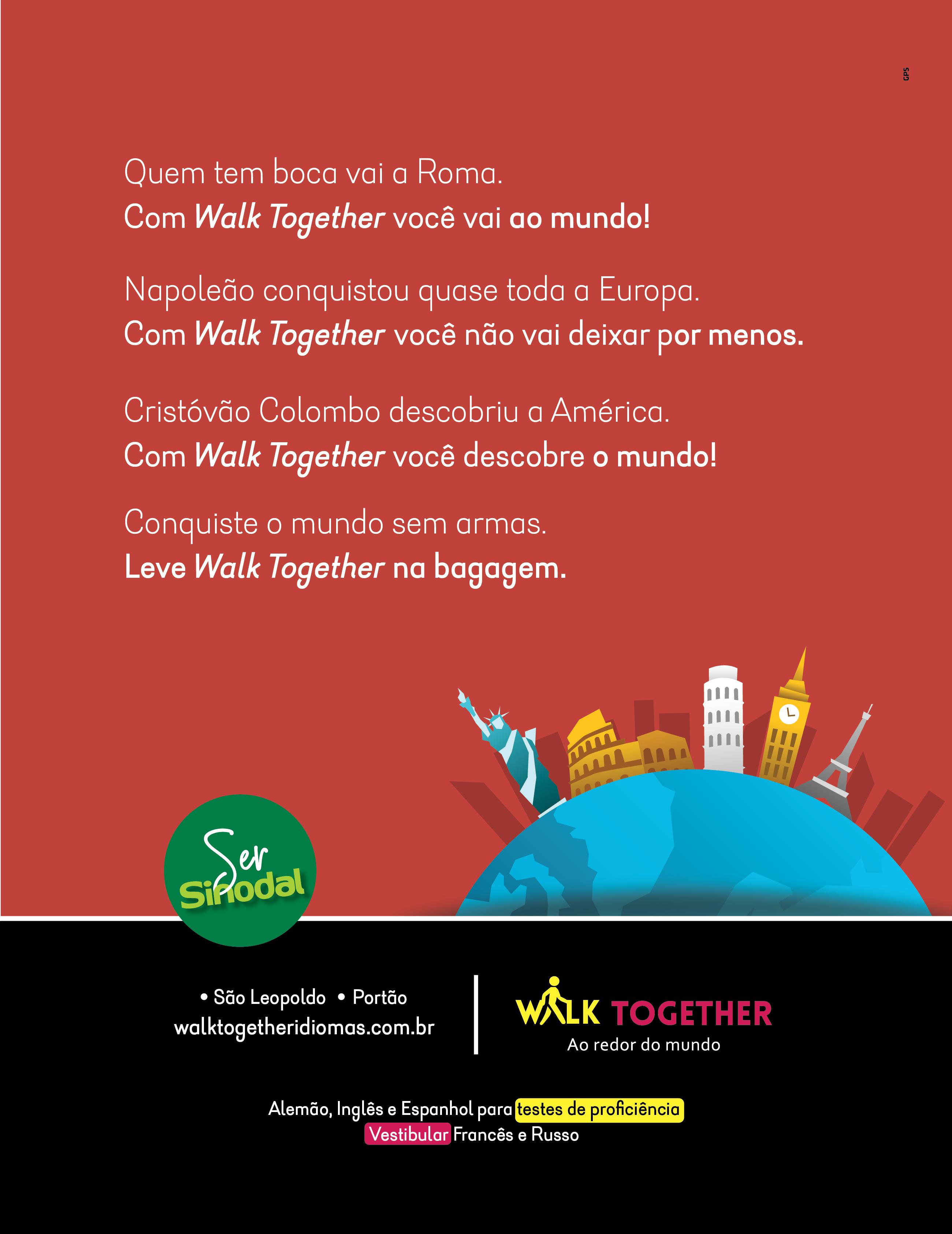 Anúncio Walk Together