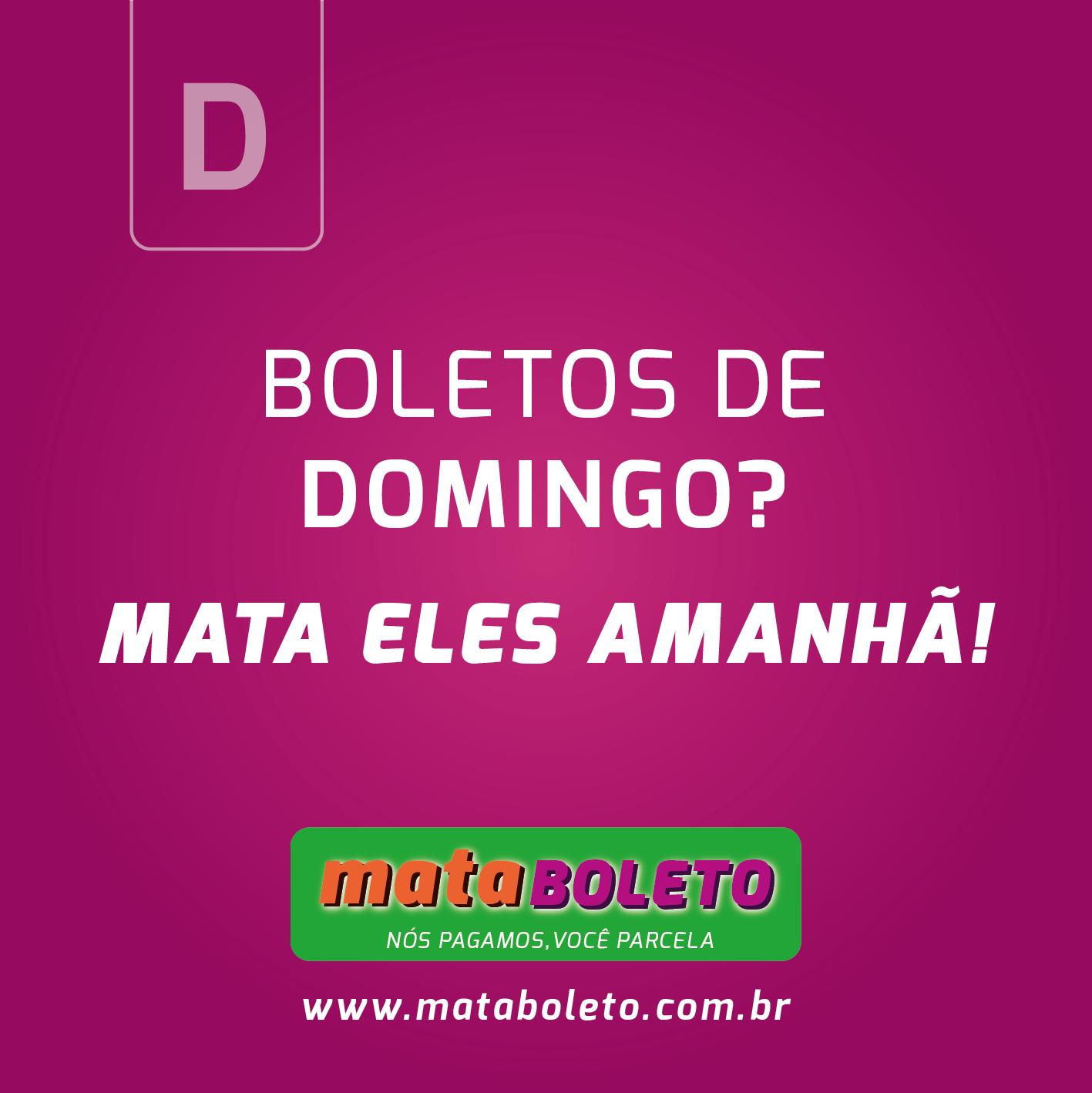 mataBOLETO – Card para Redes Sociais